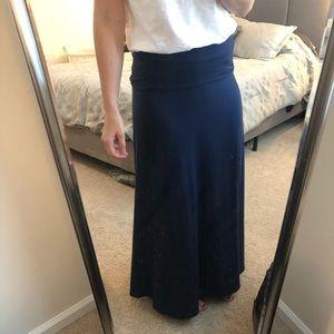 Lularoe Navy Maxi Skirt